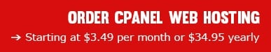 order cPanel Web Hosting